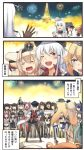 2koma 6+girls :d =_= abukuma_(kantai_collection) akagi_(kantai_collection) akatsuki_(kantai_collection) american_flag_legwear apron asashio_(kantai_collection) bare_shoulders beret bismarck_(kantai_collection) black_dress black_hair black_hat black_legwear black_sailor_collar black_skirt blonde_hair blue_eyes blue_hair blue_hakama blue_sailor_collar bottle braid brown_gloves brown_hair brown_skirt comic commandant_teste_(kantai_collection) crossed_arms crown detached_sleeves dress eating eyepatch facial_scar fireworks flat_cap folded_ponytail french_braid fubuki_(kantai_collection) gangut_(kantai_collection) gloves green_eyes green_hair grey_legwear grin hair_between_eyes hair_bobbles hair_ornament hairband hairclip hakama hakama_skirt hat headgear hibiki_(kantai_collection) holding holding_bottle ido_(teketeke) ikazuchi_(kantai_collection) inazuma_(kantai_collection) iowa_(kantai_collection) ise_(kantai_collection) jacket japanese_clothes jun'you_(kantai_collection) kaga_(kantai_collection) kantai_collection kongou_(kantai_collection) long_hair long_sleeves military military_hat military_uniform mini_crown mismatched_legwear multiple_girls nachi_(kantai_collection) nagato_(kantai_collection) off-shoulder_dress off_shoulder one_eye_closed open_mouth orange_eyes pantyhose peaked_cap pinafore_dress pink_eyes pink_hair pipe pipe_in_mouth pleated_skirt pola_(kantai_collection) ponytail purple_eyes purple_hair red_hair red_hakama red_shirt remodel_(kantai_collection) sailor_collar sailor_shirt sake_bottle sazanami_(kantai_collection) scar school_uniform serafuku shirt short_hair short_sleeves side_ponytail silver_hair skirt smile spiked_hair suzukaze_(kantai_collection) tabard tasuki tenryuu_(kantai_collection) thighhighs translation_request twintails uniform v-shaped_eyebrows verniy_(kantai_collection) warspite_(kantai_collection) white_apron white_dress white_hair white_hat white_jacket white_shirt yuubari_(kantai_collection)