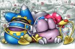 2013 ambiguous_gender box_xod duo eyes_closed flower kirby_(series) magolor marx nintendo not_furry open_mouth plant rose sleeping video_games