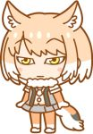 alpha_channel animal_humanoid anime armwear big_head biped blonde_hair canine chibi clothing digital_drawing_(artwork) digital_media_(artwork) elbow_gloves female flat_chested footwear fox fox_humanoid front_view frown fur gloves grey_clothing grey_tail hair half-closed_eyes humanoid inner_ear_fluff japanese kemono_friends leggings legwear light_skin low_res mammal mitten_hands multicolored_hair multicolored_tail neck_tuft necktie official_art orange_clothing orange_tail plantigrade pleated_skirt shoes simple_background skirt solo standing sweater_vest tan_skin tibetan_fox tibetan_sand_fox_(kemono_friends) toony transparent_background tuft two_tone_hair unknown_artist white_clothing white_fur white_hair white_tail yellow_eyes
