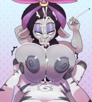 absurd_res anthro big_breasts big_eyes big_penis black_eyes black_hair black_penis bored breasts caprine cigarette cum cum_between_breasts cum_in_hair cum_on_face cumshot duo ejaculation equine erection eyeliner female fur grey_fur grey_nipples hair half-closed_eyes hi_res holding_object long_ears makeup male male/female mammal motion_lines nana_noodleman nipples no_pupils orgasm penis sex sheep sing_(movie) somescrub striped_fur stripes titfuck unamused white_fur zebra