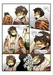 anthro baraking comic father feline mammal parent son tiger