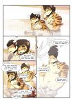 anthro baraking comic father feline male mammal parent son tiger