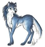 2007 ambiguous_gender blue_eyes canine mammal metalpandora simple_background traditional_media_(artwork) white_background wolf