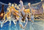 all_male blonde_hair bodysuit elsword herbaon_(elsword) koya10305 long_hair male reflection sky stars yellow_eyes