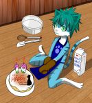 2013 anthro cake cat english_text feline food male mammal milk sitting solo text 超級小守鶴