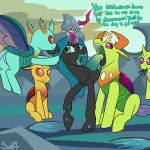 changeling english_text female feral friendship_is_magic male my_little_pony open_mouth oral_vore queen_chrysalis_(mlp) swiftsketchpone text thorax_(mlp) vore
