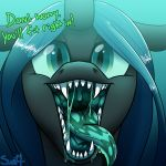 changeling english_text female feral friendship_is_magic mouth_shot my_little_pony open_mouth queen_chrysalis_(mlp) swiftsketchpone text vore