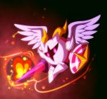 2boys angel_wings black_background bug butterfly butterfly_wings galacta_knight gurifon holding holding_sword holding_weapon horns insect kirby:_star_allies kirby_(series) lance mask morpho_knight multiple_boys pink_eyes polearm shoulder_pads simple_background spoilers sword weapon wings