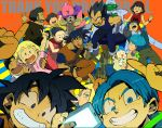 6+boys 6+girls ^_^ alcohol android_18 animal annoyed arms_up artist_name baby bee_(dragon_ball) beer black_hair blanket blonde_hair blue_background blue_eyes blue_hair blush blush_stickers bottle bra_(dragon_ball) bracelet brothers bulma cape cellphone chi-chi_(dragon_ball) clenched_hands closed_eyes copyright_name couple dog dougi dragon_ball dragon_ball_super dragonball_z dress drinking drunk embarrassed english eyebrows_visible_through_hair eyelashes eyes_closed facial_hair father_and_daughter father_and_son fingernails glass gloves grandfather_and_granddaughter hairband happy hetero index_finger_raised jewelry kuririn long_sleeves looking_at_another looking_at_viewer looking_away majin_buu marron milk mother_and_daughter mother_and_son mr._satan multiple_boys multiple_girls mustache neckerchief pan_(dragon_ball) pants phone piccolo pink_shirt pointy_ears pov profile red_background red_dress red_hairband saliva shirt short_hair siblings simple_background sleeping sleeveless sleeveless_dress smartphone smile son_gohan son_gokuu son_goten spiked_hair sweatdrop sweater_vest teeth text_focus tied_hair trunks_(dragon_ball) turban v vegeta videl white_shirt wristband yellow_background