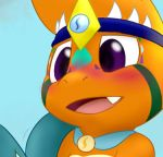 ambiguous_gender blush charmander charmandrigo cropped duo nintendo pokémon pokémon_(species) reptile scalie solo_focus video_games