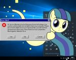 2018 badumsquish blue_eyes blue_hair computer computer_virus desktop english_text equine fan_character female hair horse mammal my_little_pony pony solo text virus windows_10