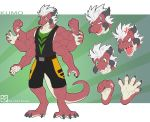 5_fingers 5_toes alpha_channel anthro arachnid arthropod claws clothing cyber-zai dragon expression_sheet green_eyes hair male model_sheet multi_limb open_mouth prehensile_feet simple_background smile solo spider spidersnax standing teeth toe_claws toes transparent_background white_hair