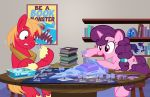 big_macintosh_(mlp) board_game duo equine female friendship_is_magic horn horse male mammal my_little_pony pixelkitties pony star_destroyer sugar_belle_(mlp) sweat tie_fighter unicorn x-wing