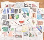 :d bangs bare_shoulders beach bird birthday_cake book boulder bow butterfly_net cake camisole candle car caustics child_drawing collage commentary_request crab crying duck elephant fish fishing_rod food fruit green_eyes grey_eyes ground_vehicle hand_net heterochromia homework instrument lamppost long_hair looking_at_viewer lying melon mosaic motor_vehicle open_book open_mouth original rainbow rock rocket sail scarecrow shore slingshot smile solo space_craft sparkle stick_figure sun sunburst surfing tears translation_request tree twintails water watermelon x_x yajirushi_(chanoma)