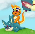 anthro charmander charmandrigo charmandrigo_(character) cum dragon drigo foreskin inner_view male male/male nintendo nude penetration penis pokémon pokémon_(species) video_games