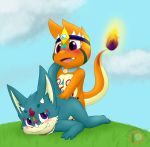 all_fours charmander charmandrigo charmandrigo_(character) doggystyle dragon drigo from_behind_position male male/male nintendo pokémon pokémon_(species) sex tribal video_games