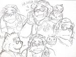 2017 anthro bear clothing eyes_closed eyewear food fruit glasses gloves hat humanoid_hands knn8150_ysd male mammal pumpkin slightly_chubby solo straw_hat tokyo_afterschool_summoners towel volos