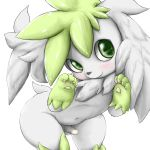 feral kemono legendary_pokémon male nintendo penis pokémon pokémon_(species) shaymin shaymin_(sky_form) sheimi simple_background solo video_games white_background 潔咪