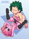 anal anal_penetration anus ashido_mina beige_penis black_clothing black_sclera clothed clothing duo erection eye_roll female green_hair hair human human_on_humanoid humanoid humanoid_penis legwear light_skin male male/female male_penetrating mammal midoriya_izuku my_hero_academia nipples not_furry outline pale_skin panties penetration penis pink_hair pink_nipples pink_skin pussy sex stockings the_other_half topless underwear yellow_eyes