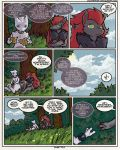cloud comic detailed_background dialogue english_text grass humanoid legendary_pokémon male mewtwo n_(pokémon) nintendo pokémon pokémon_(species) pokémon_mystery_dungeon pokémon_victory_fire sky speech_bubble sulfurbunny_(artist) text tree video_games zoroark