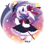 1girl absol creatures_(company) furry game_freak gen_3_pokemon gothic_lolita kemoribon lolita_fashion nintendo open_mouth pokemon purple_eyes ribbon solo white_hair