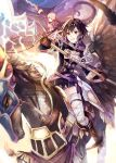 1boy 1girl armor black_hair boots brown_eyes brown_footwear brown_gloves cloud dragon dress father_and_daughter feathers fire_emblem fire_emblem:_kakusei fire_emblem_heroes gloves holding holding_lance holding_sword holding_weapon hood hood_down lance lightning long_sleeves male_my_unit_(fire_emblem:_kakusei) mark_(female)_(fire_emblem) mark_(fire_emblem) my_unit_(fire_emblem:_kakusei) nintendo open_mouth pegasus pegasus_knight polearm riding short_dress short_hair sky sword thighhighs twitter_username weapon white_hair wyvern xin_(24914) zettai_ryouiki