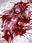 1girl aosora_(mizore) blood commentary commentary_request death dress english_commentary guro long_hair lying on_back original partial_commentary short_sleeves solo