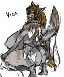 anthro backview big_breasts big_butt breasts butt canine colored_sketch condom cum dreamy_pride female huge_breasts hyper hyper_breasts invalid_tag looking_at_viewer mammal markings simple_background sketch solo tribal viria white_background wolf