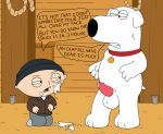 animal_genitalia baby balls brian_griffin canine child clothing collar cum cum_on_face dialogue dog erection family_guy hat human humor interspecies male male/male mammal nude open_mouth penis rope sitting squint standing stewie_griffin sweat teeth young