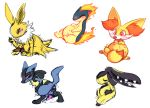 3_toes amber_eyes anal_birth birth black_fur black_nose black_pawpads blue_fur blush brown_pawpads chest_tuft clenched_teeth dipstick_tail eeveelution eggnonymous female fennekin fluffy fluffy_tail fur jolteon knot lucario mawile multi_nipple multicolored_tail nintendo nipples open_mouth orange_eyes orange_fur pawpads pokémon pokémon_(species) pregnant quilava red_eyes sketch tan_fur teeth toes tongue tongue_out tuft video_games white_fur yellow_fur