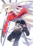 animal_ears boots fox_ears grey_hair highres katana original shiro_youduki sword thigh_boots thighhighs weapon white_hair