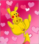 areola artybear bedroom_eyes big_breasts breasts busty_feral butt clitoris female feral fur half-closed_eyes hi_res nintendo nipples open_mouth pikachu pinka_the_thicc_pikachu pokémon pokémon_(species) presenting presenting_pussy pussy seductive simple_background solo spread_legs spread_pussy spreading teeth thick_thighs tongue tongue_out video_games wide_hips yellow_fur