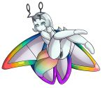 alpha_channel android animal_humanoid arthropod blue_blush blue_eyes blue_pupils blush butterfly_humanoid female grey_hair hair humanoid insect insect_humanoid insect_wings lepidopteran machine mario_bros nintendo paper_mario pussy robot solo tiptron video_games wings yoshimister