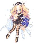 /\/\/\ 1girl :d :q ;d animal argyle argyle_legwear azur_lane bag bag_charm black_dress black_footwear black_hat blonde_hair blue_eyes blush brown_mittens bunny character_doll charm_(object) diagonal_stripes dress full_body fur-trimmed_boots fur-trimmed_mittens fur_trim hair_ribbon hat head_tilt holding holding_animal kalk_(azur_lane) long_hair long_sleeves looking_at_viewer mittens multicolored_hair official_art one_eye_closed open_mouth pantyhose ribbon school_bag smile streaked_hair striped striped_ribbon tongue tongue_out transparent_background two_side_up utm very_long_hair white_hair white_ribbon wide_sleeves