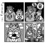 <3 3_toes 5_fingers abs anthro bear beard beverage blush breath canine cheek_tuft clenched_teeth clothed clothing coffee comic convenient_censorship cute_fangs dialogue dog eyebrows facial_hair fellatio fur gab_shiba gabshiba greyscale group hair head_grab hug jacket kneeling looking_aside looking_at_another male male/male mammal monochrome naked_towel navel night nipples open_mouth open_smile oral pictographics sauna sex shaking shiba_inu shirt shivering short_hair sky slightly_chubby smile speech_bubble standing star starry_sky steam sweat t-shirt teeth text toes topless towel tuft unconscious