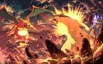 arcanine chandelure charizard fire karasora legendary_pokémon lucario mega_evolution mega_scizor milotic nintendo pokémon pokémon_(species) riolu shaymin shaymin_(sky_form) teeth typhlosion video_games wings