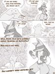 ambiguous_gender anthro comic crocodiler_owen detailed_background ditto lucario monochrome nintendo pokémon pokémon_(species) video_games
