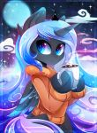 2018 clothed clothing digital_media_(artwork) equine feathered_wings feathers female friendship_is_magic horn koveliana mammal my_little_pony princess_luna_(mlp) solo winged_unicorn wings