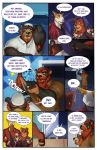 2018 absurd_res anthro bear beard beverage big_breasts blush breasts canine captain_nikko cat clothed clothing comic dialogue digital_media_(artwork) doberman dog duo english_text eyewear facial_hair father father_and_son feline footwear fur hair hi_res male mammal mephitid open_mouth parent shoes skunk slightly_chubby smile son speech_bubble sunglasses teeth text