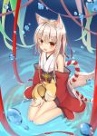 animal_ears aroma0501 japanese_clothes kitsune tail wet