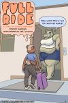 2018 anthro bear big_breasts breasts bulge clothed clothing comic dickgirl digital_media_(artwork) duo english_text gingerlybreadart girly hippopotamus inside intersex male mammal outside overweight skimpy speech_bubble standing text