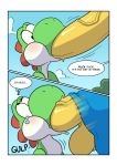comic dialogue duo english_text green_yoshi hyper kamek komdog male mario_bros nintendo oral penis text video_games yoshi