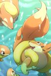 ambiguous_gender brown_eyes buizel dipstick_tail feral floatzel fur group kiriya mammal multicolored_tail mustelid nintendo orange_fur pokémon pokémon_(species) swimming underwater video_games water