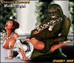 a_new_hope chewbacca princess_leia_organa shabby_blue star_wars wookiee